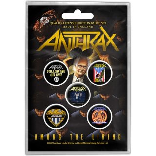 ANTHRAX Among The Living, バッジセット