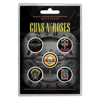 GUNS N' ROSES Bullet Logo, バッジセット