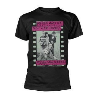 PETER & THE TEST TUBE BABIES Pissed And Proud Blk, Tシャツ