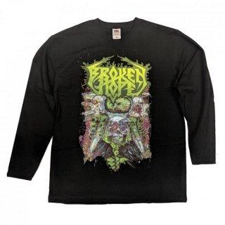 BROKEN HOPE Omen Covers Song Black, ロングTシャツ