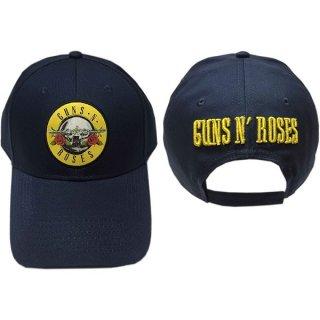 GUNS N' ROSES Circle Logo Navy Blue, キャップ