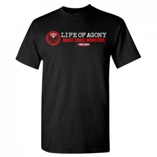 LIFE OF AGONY Beast Coast Tour Spring 2020, Tシャツ