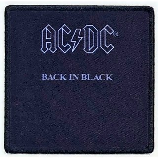 AC/DC Back In Black Album Cover, パッチ