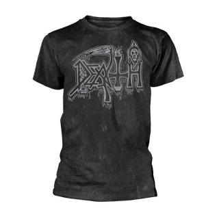 DEATH Silver Logo Blk, Tシャツ