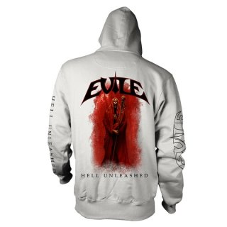 EVILE Hell Unleashed Wht, Zip-Upパーカー