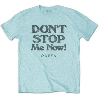 QUEEN Don't Stop Me Now Aqua Blue, Tシャツ
