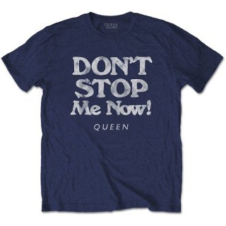 QUEEN Don't Stop Me Now Navy, Tシャツ
