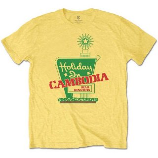 DEAD KENNEDYS Holiday In Cambodia Yellow, Tシャツ