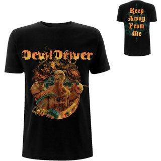 DEVILDRIVER Keep Away From Me Back Print, Tシャツ