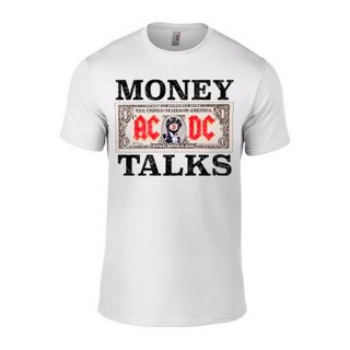 AC/DC Money Talks Wht, Tシャツ