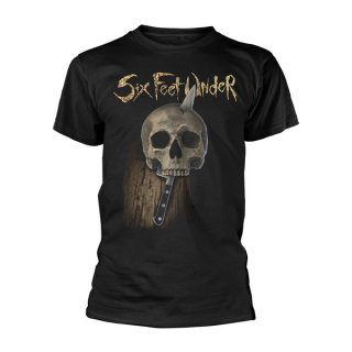 SIX FEET UNDER Knife Skull, Tシャツ