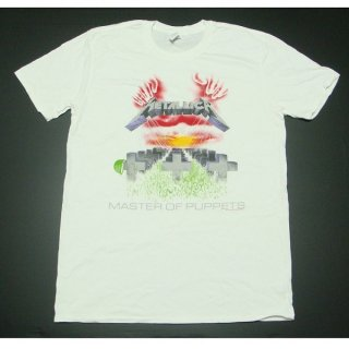 METALLICA Master Of Puppets WHT, Tシャツ
