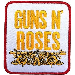 GUNS N' ROSES Stacked White, パッチ