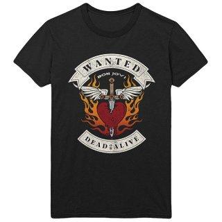 BON JOVI Wanted Flames, Tシャツ