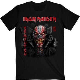 IRON MAIDEN Senjutsu Black Cover Vertical Logo, Tシャツ