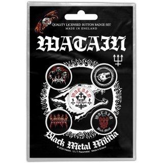 WATAIN Black Metal Militia, バッジセット