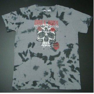 GUNS N' ROSES Flower Skull Dip-Dye, Tシャツ
