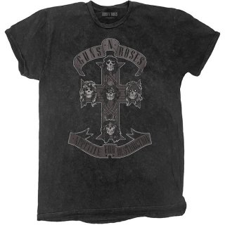 GUNS N' ROSES Monochrome Cross Dip-Dye, Tシャツ