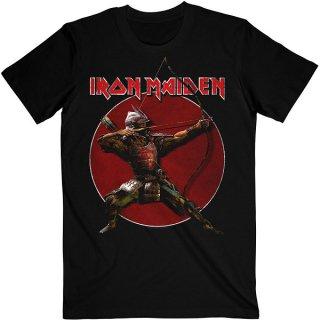 IRON MAIDEN Senjutsu Eddie Archer Red Circle, Tシャツ