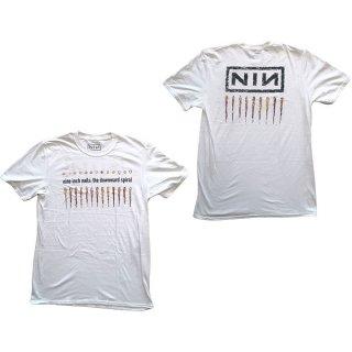 NINE INCH NAILS Downward Spiral Wht, Tシャツ