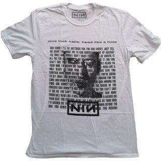 NINE INCH NAILS Head Like A Hole Wht, Tシャツ