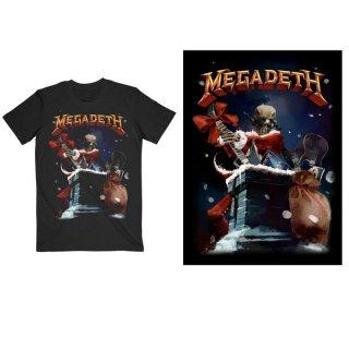MEGADETH Santa Vic Chimney, Tシャツ