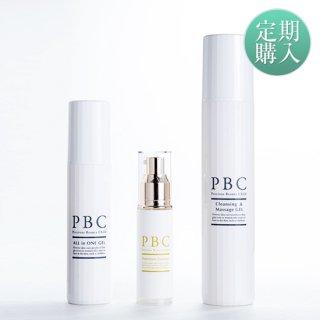【定期購入】クレンジング&マッサージジェル+PBCプレミアムエッセンス+オールインワンジェル