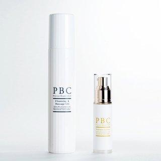 クレンジング&マッサージジェル+PBCプレミアムエッセンス