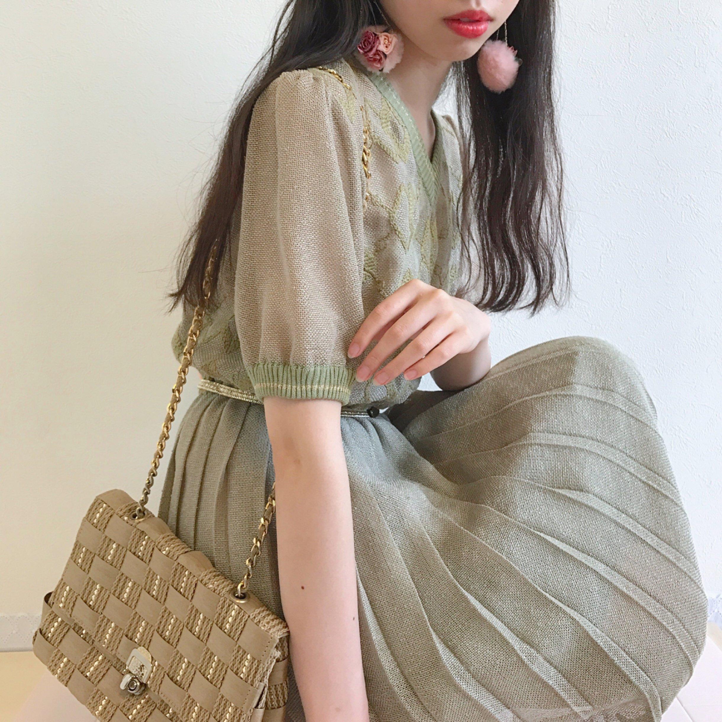 dry leaf pleats dress