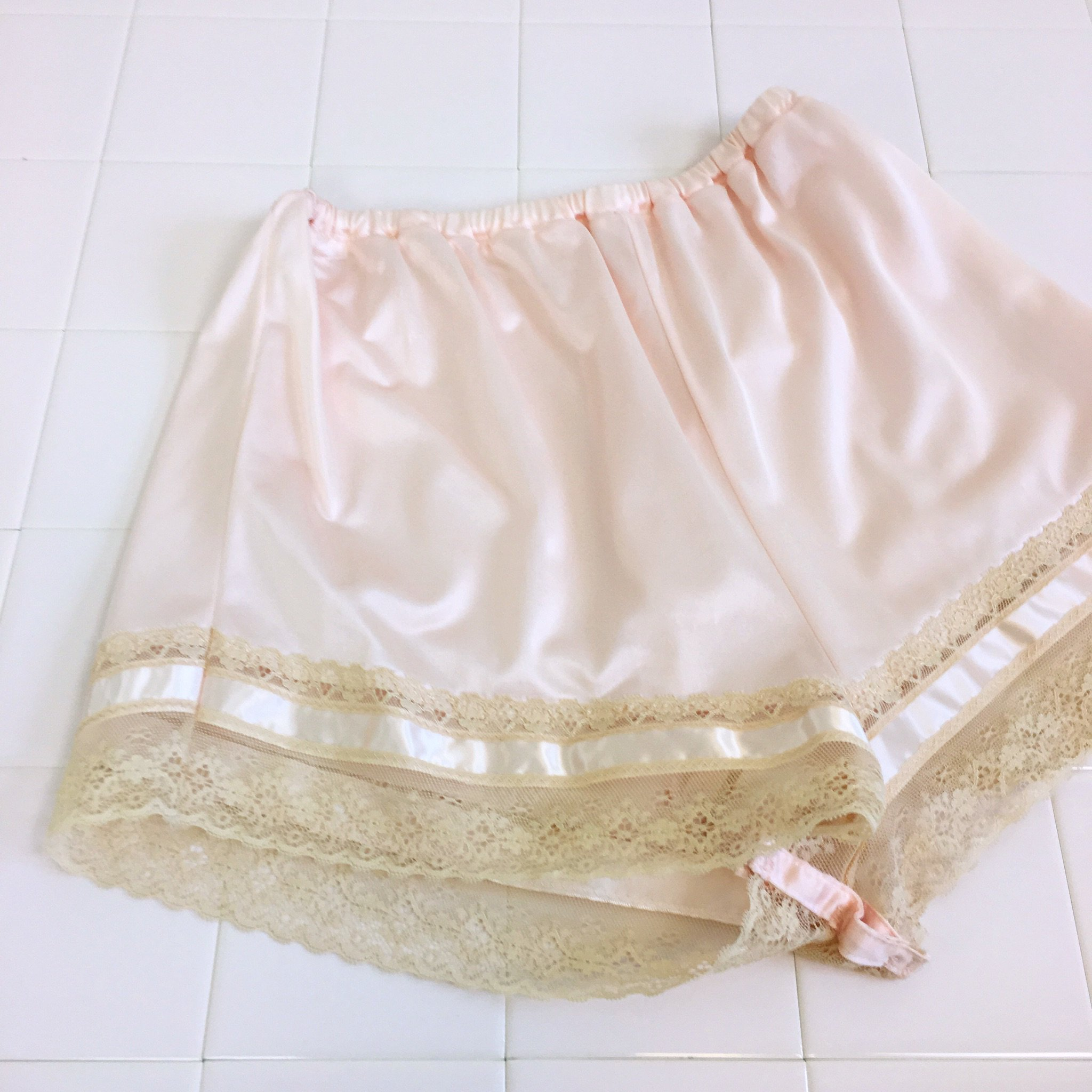 pale pink lingerie short pants