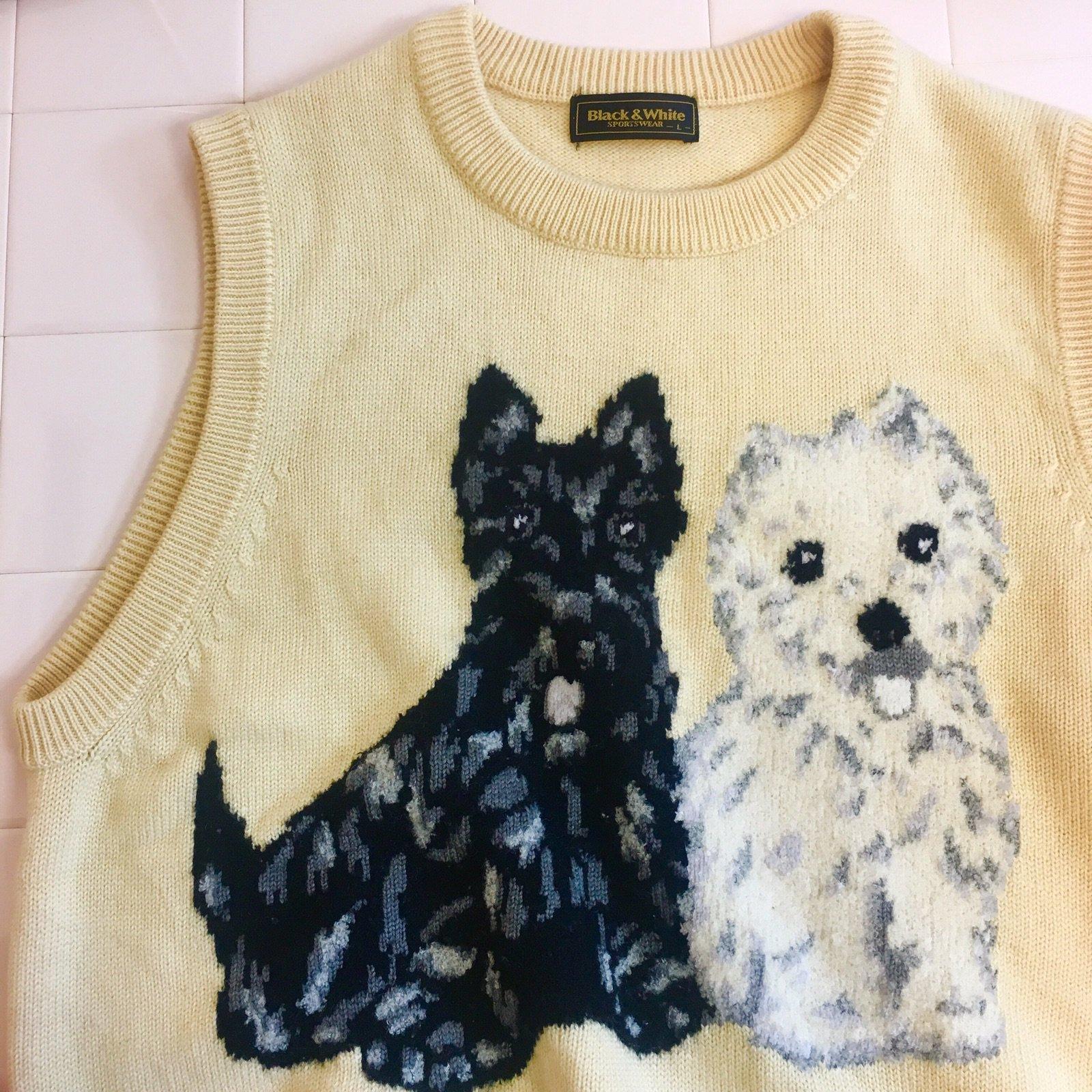 lovers' dog sleeveless knit