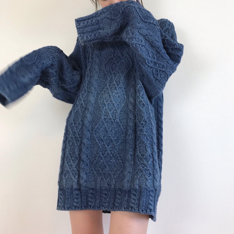 night ocean's knit one-piece