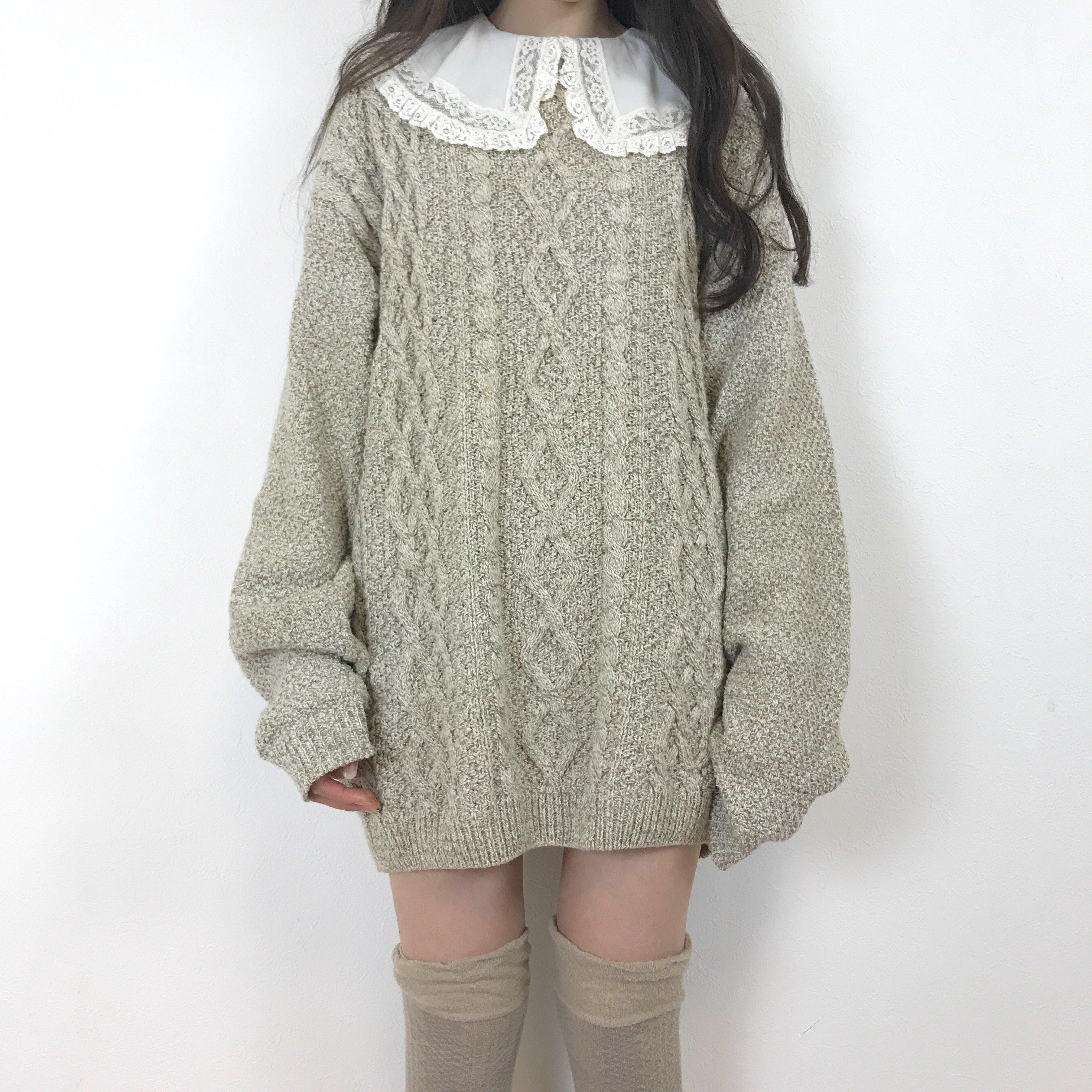 beige allan knit one-piece