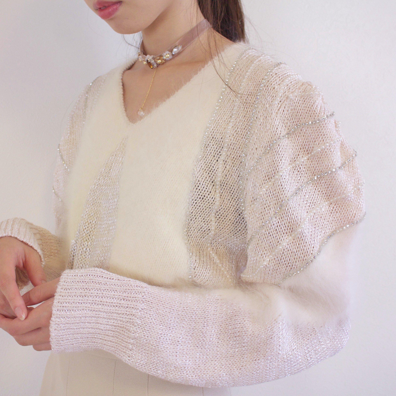 white angel knit one-piece