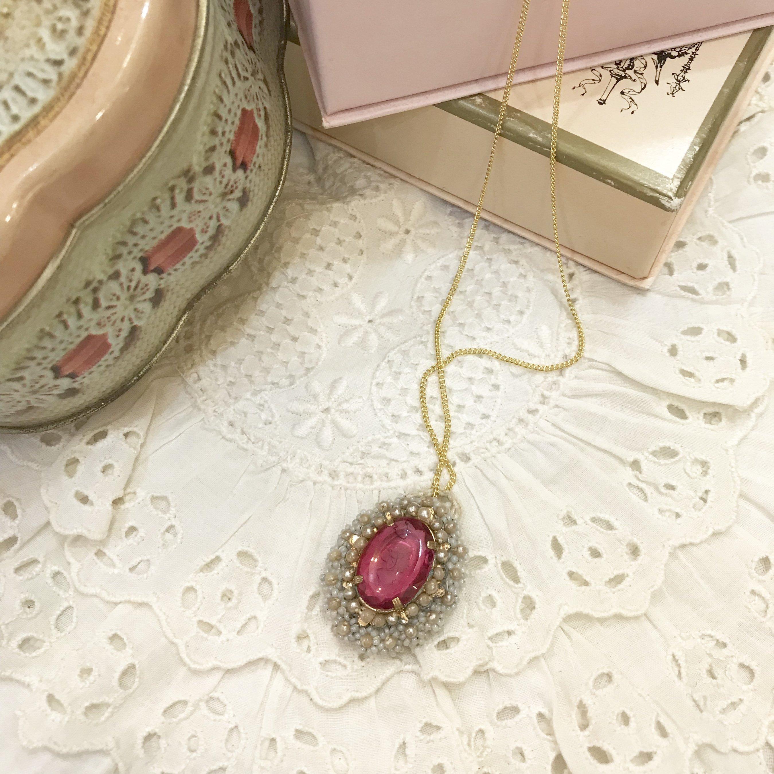 cherry jewel necklace