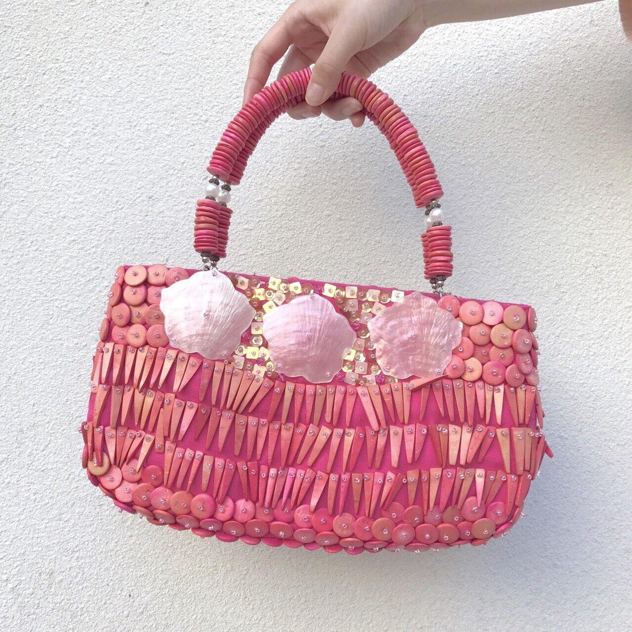 pink shell SA KU RA bag