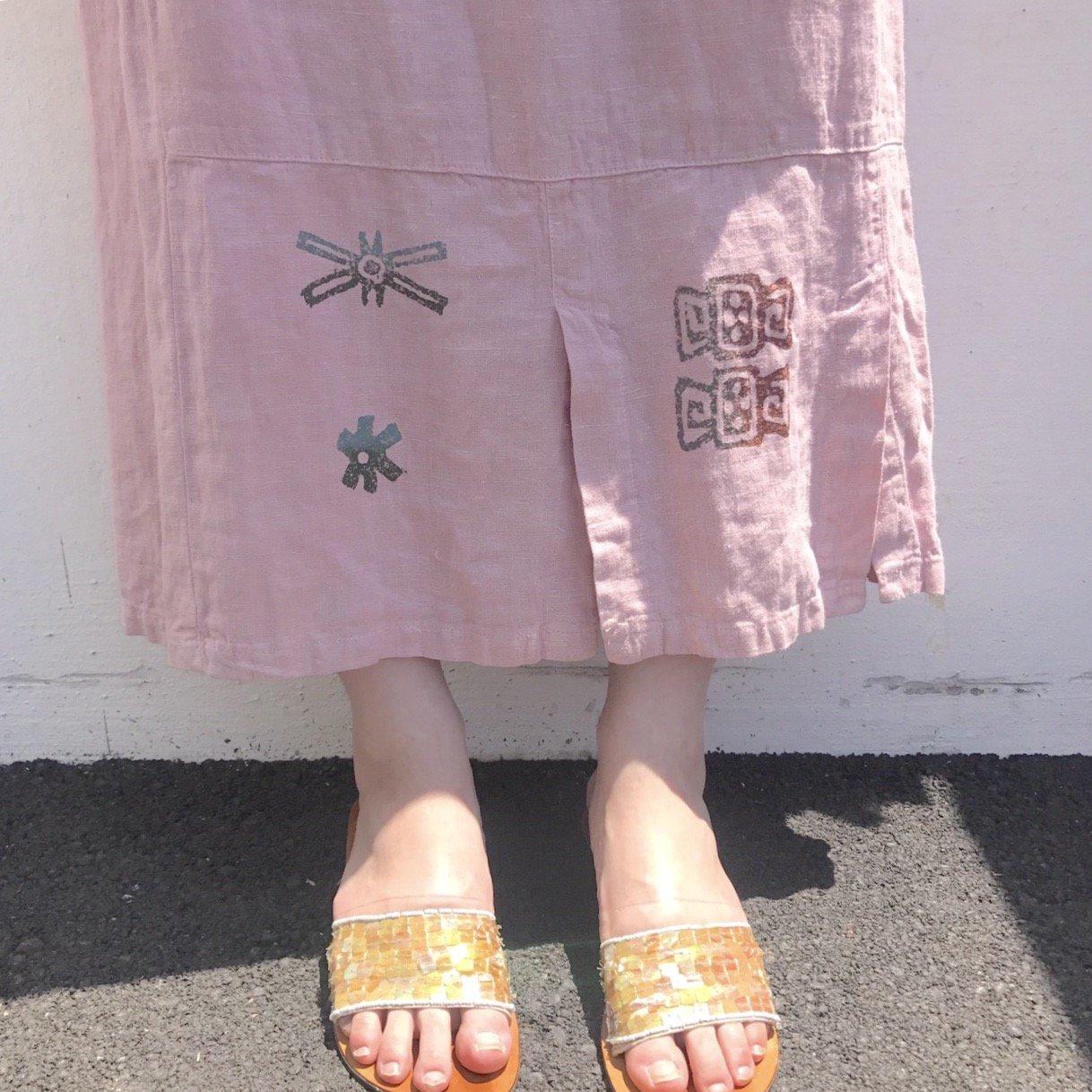 くすみピンク のれんスカート