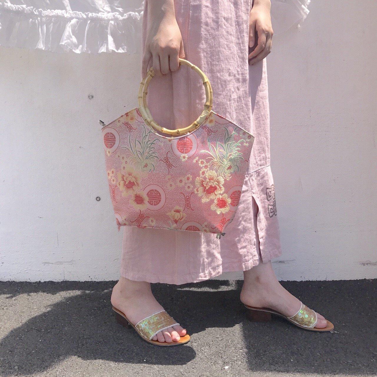 pink china hand bag