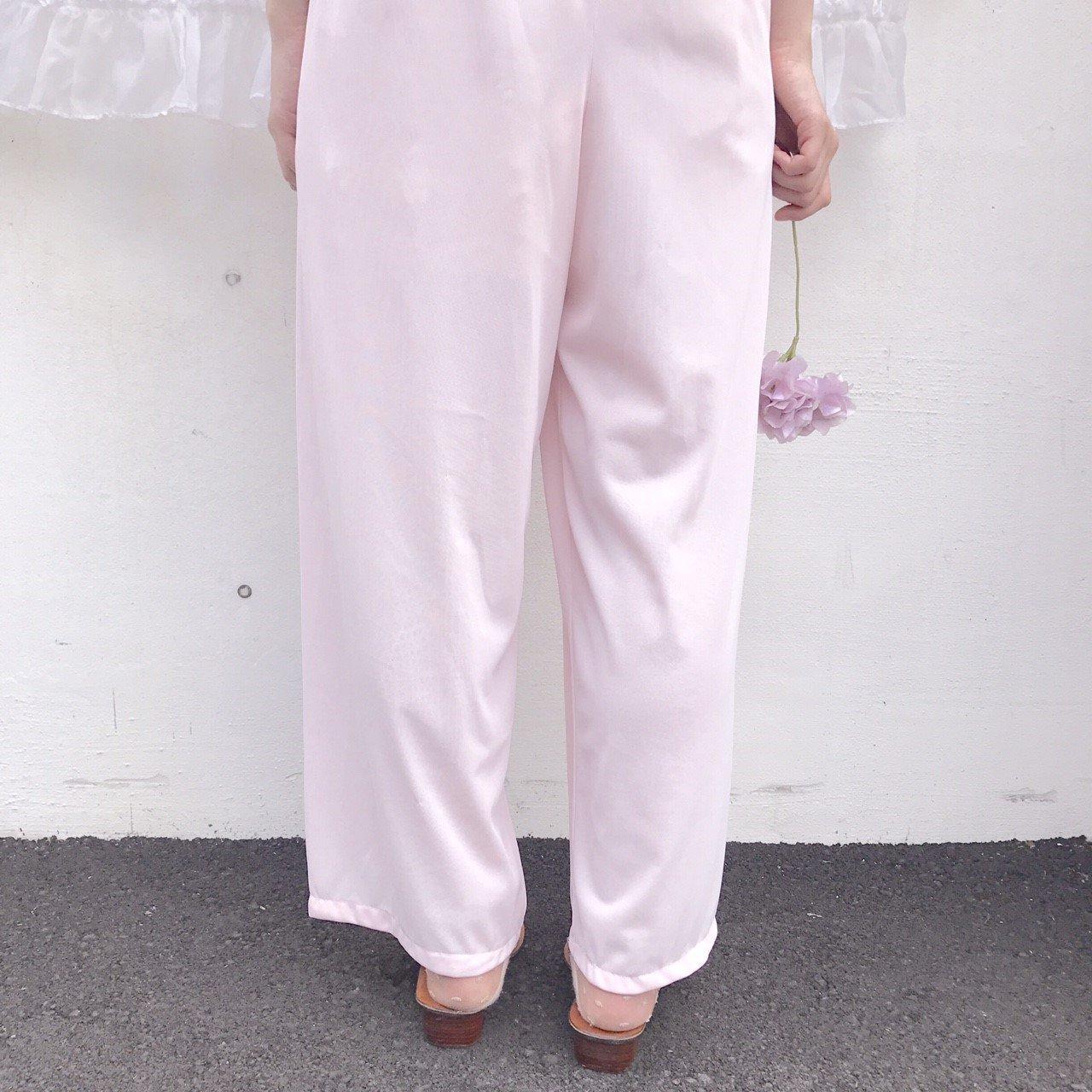 pink sheer pants