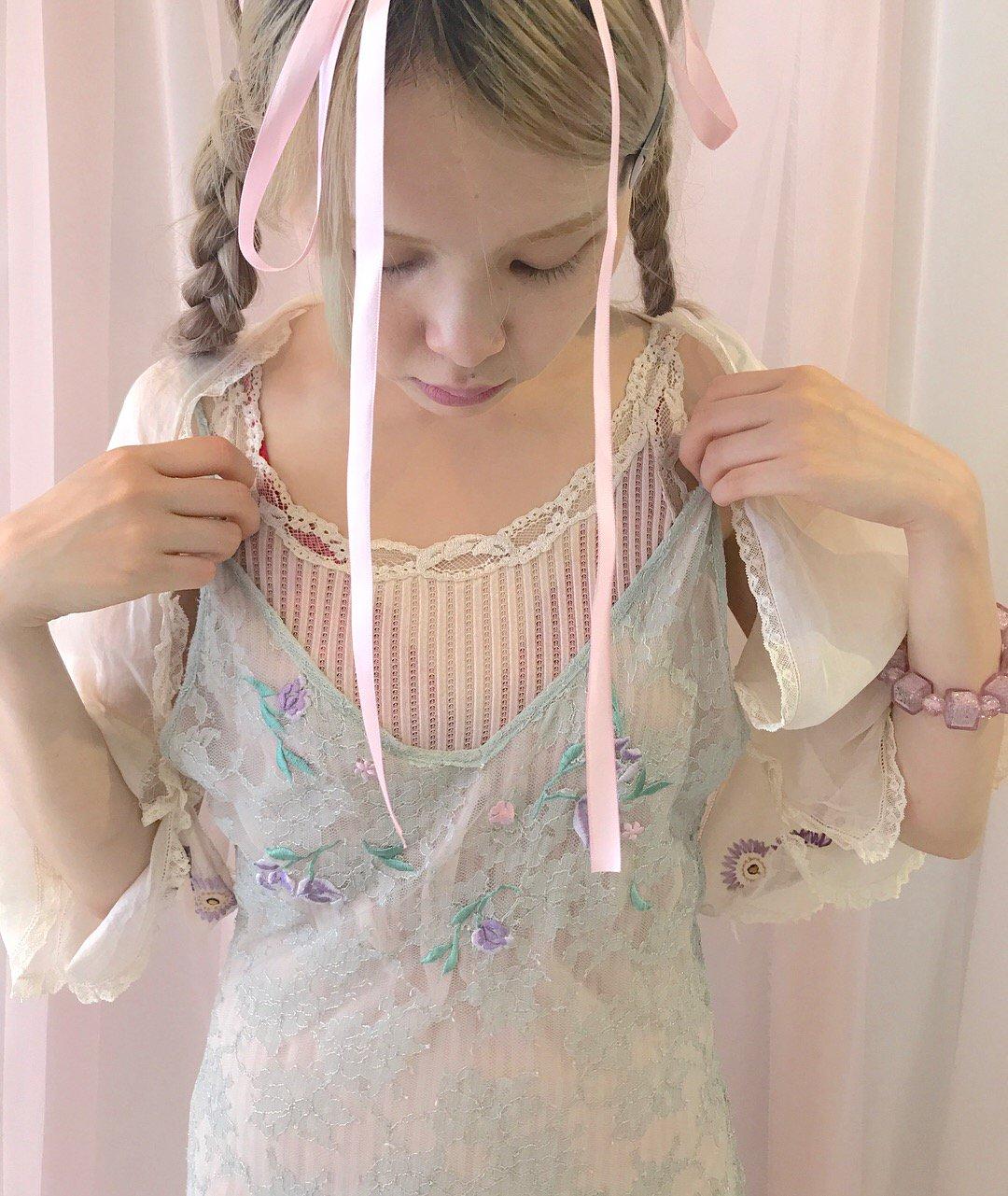 mint. pink. lace lingerie