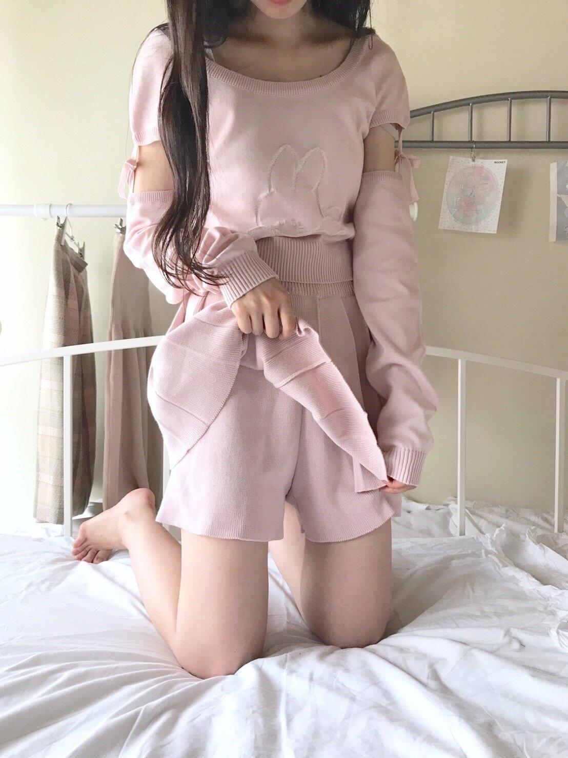 プリーツスカートパンツ ショート(ローズミスト)