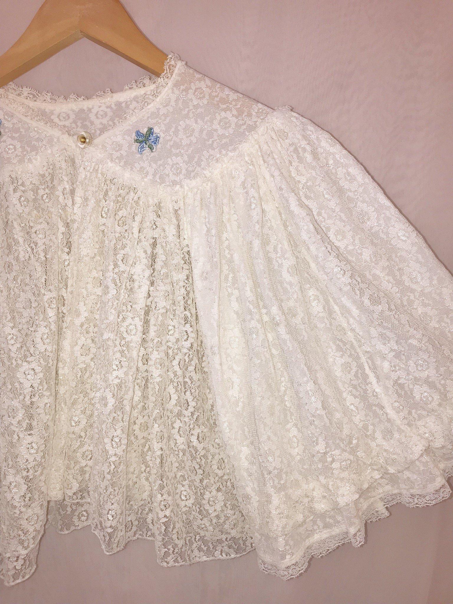 vintage lace short gown