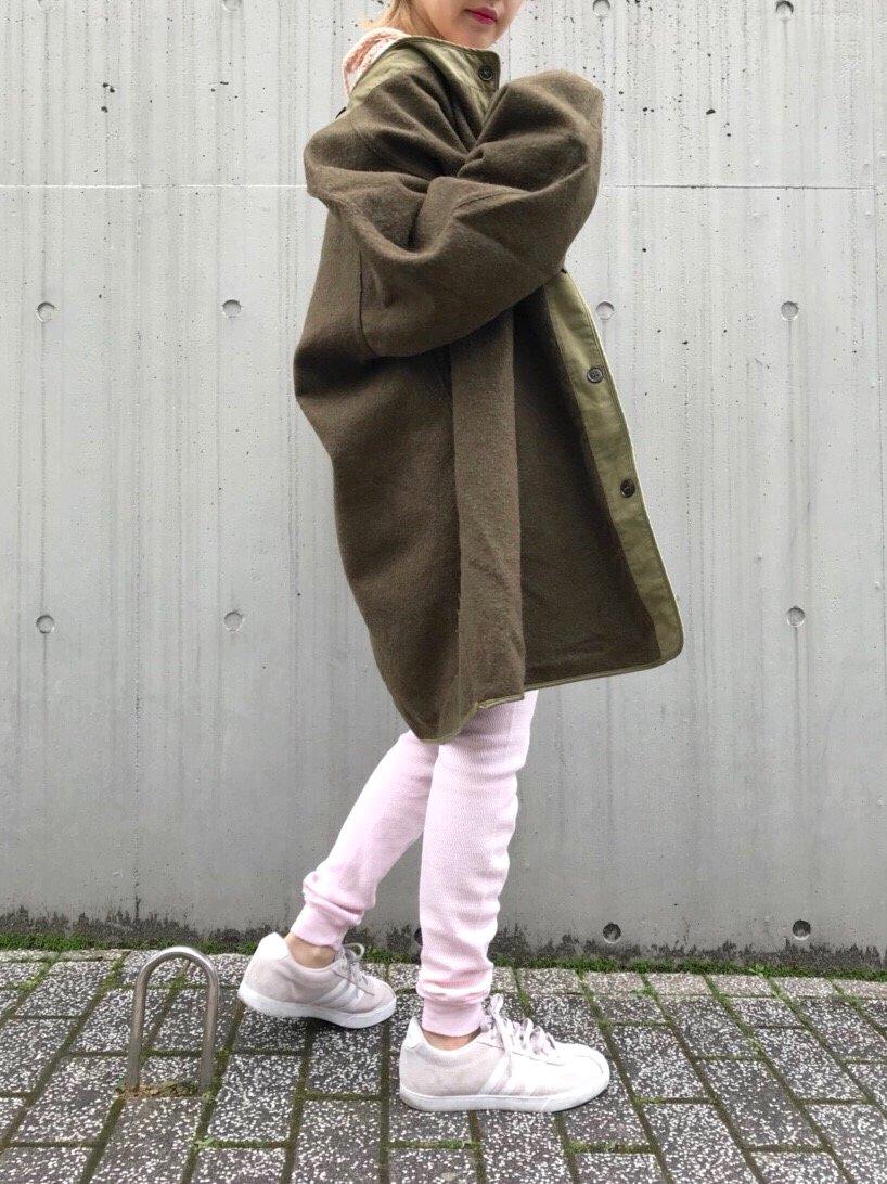 khaki military liner coat