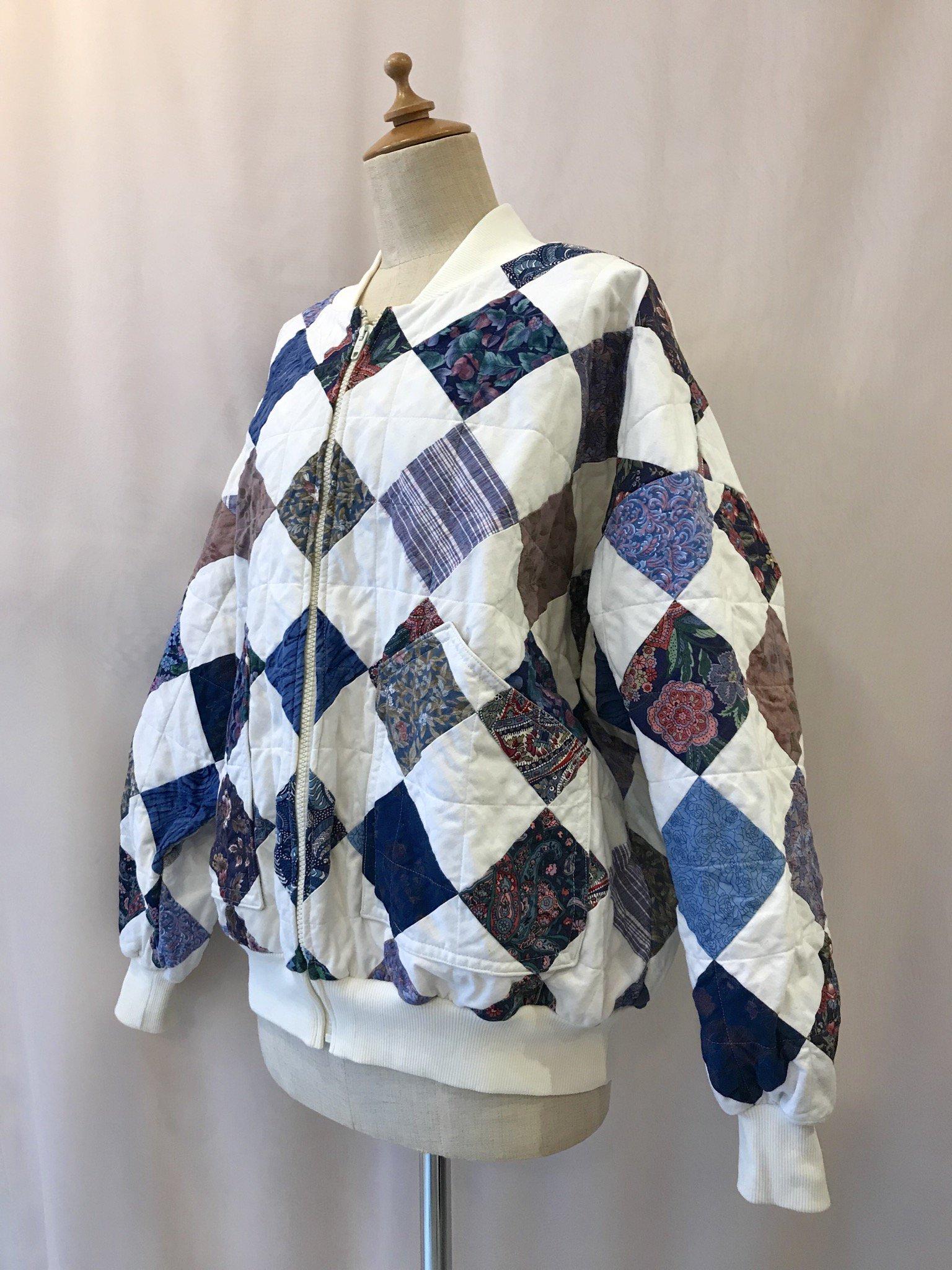 quilt patchwork blouson
