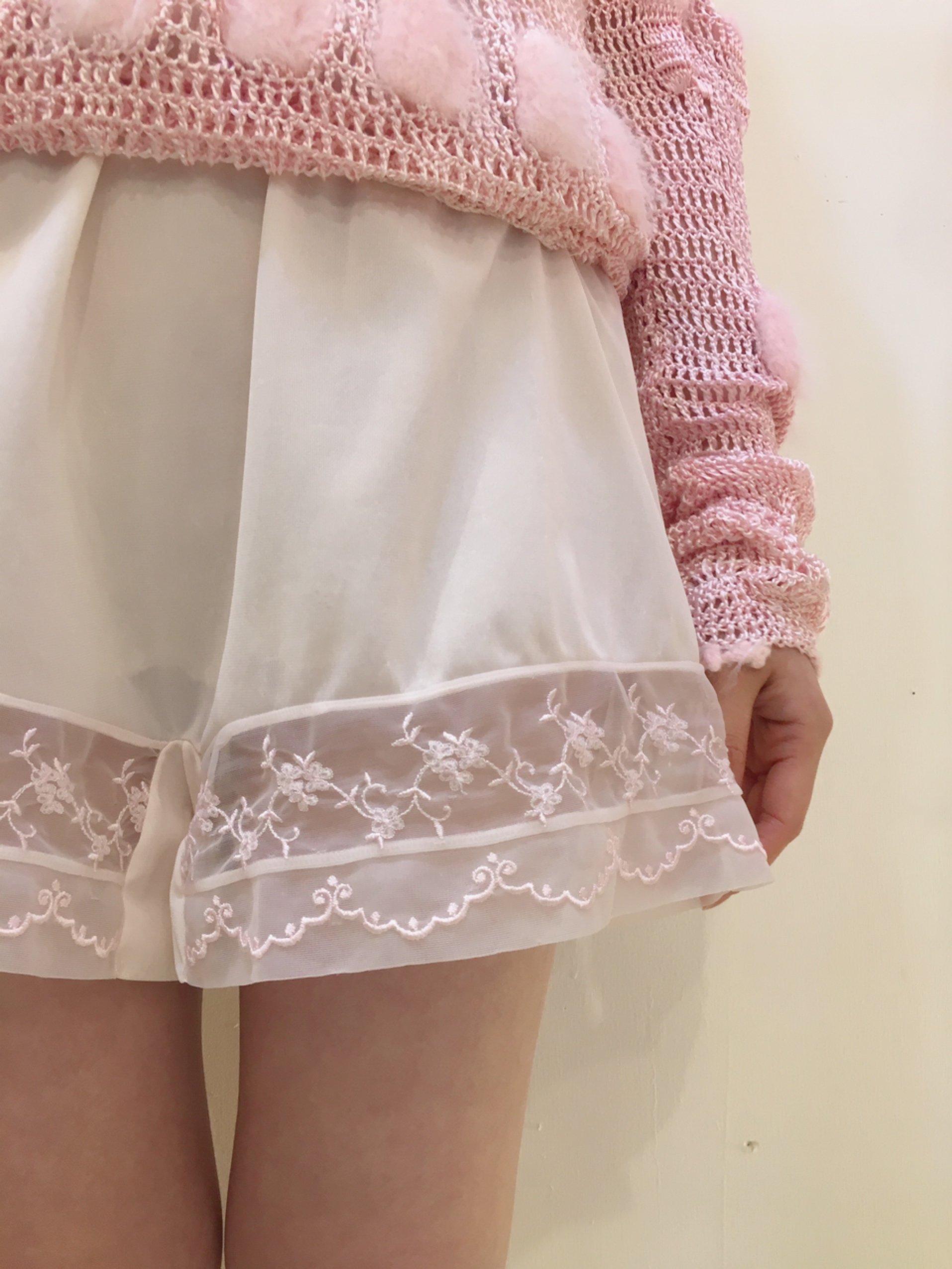 pink lingerie pants