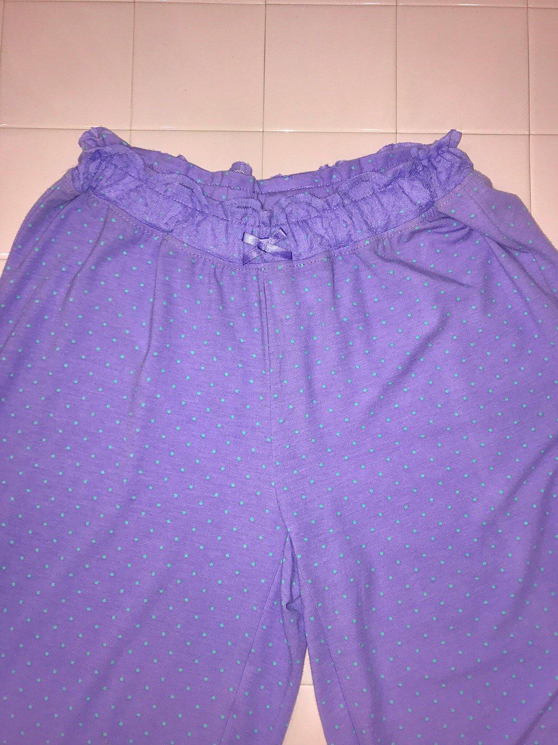 mint dot lavender easy pants