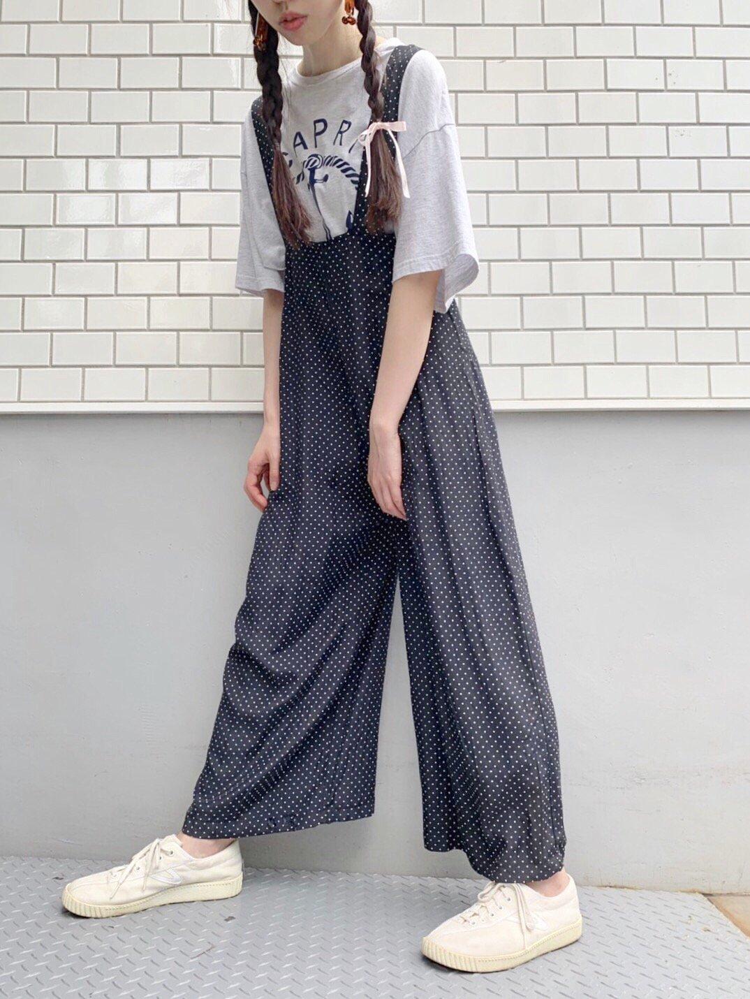 black ×white 水玉ロンパース