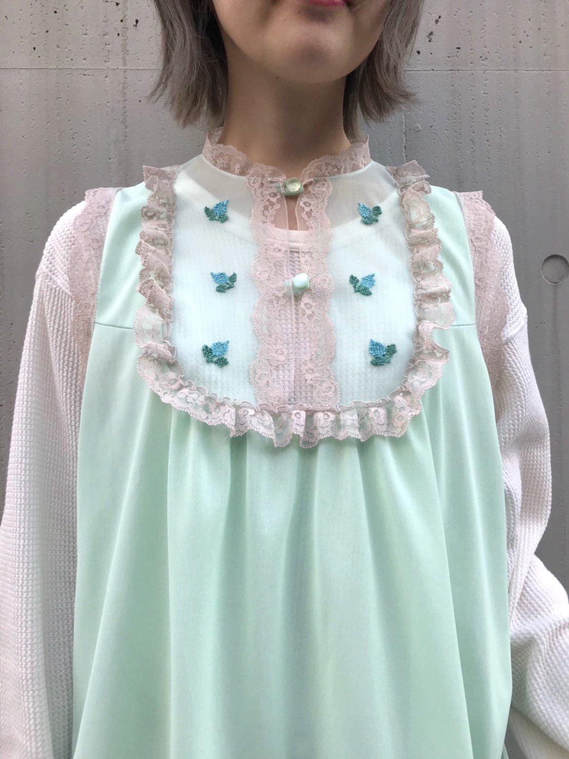 blue flower lingerie