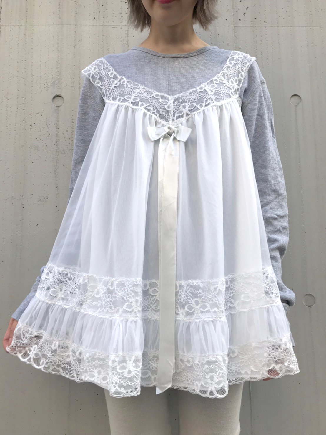 ribbon lace white lingerie