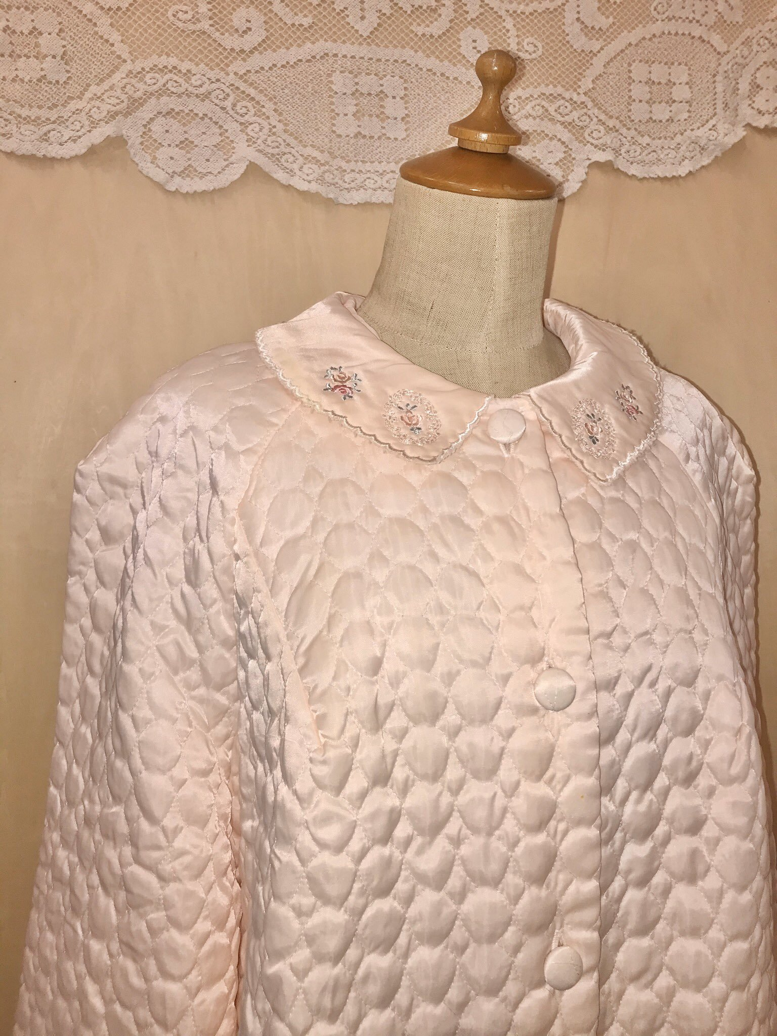 vintage quilting bed jacket